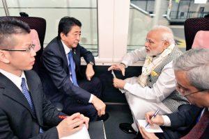 PM Modi, Japanese PM Abe take express train to Tokyo from Yamanashi