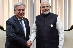 Antonio Guterres hails Mahatma's values, calls for reduction of greenhouse gas emissions