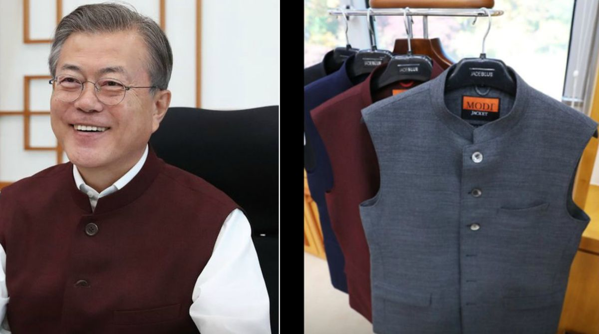 Modi jackets, PM Modi, South Korean President, Moon Jae-in