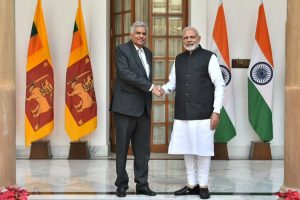 PM Modi, Lankan PM Ranil Wickremesinghe discuss India-assisted development projects