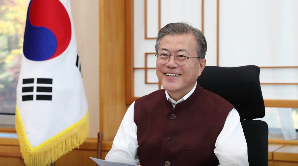 Narendra Modi, Delight, South Korea, President Moon Jae-in, Modi jacket