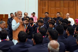 PM Modi meets 2018 Asian Para Games medal winners