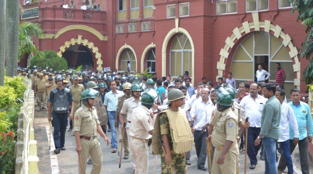 Police deployment, Orissa High Court, Odisha lawyers' strike, Orissa HC Bar Association