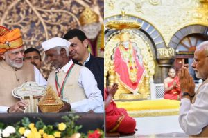 PM Modi prays at Shirdi, hands house keys to 10 PMAY-G beneficiaries