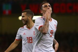 Resurgent Paco Alcacer makes his point as Spain crush Wales