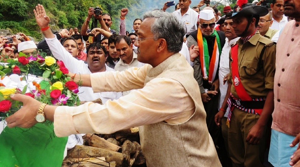 Mortal remains of ND Tiwari consigned to flames