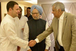 Sri Lankan PM Ranil Wickremesinghe meets Rahul, Sonia, Manmohan