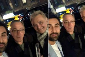 Starstruck moment! Ranbir Kapoor and Rishi Kapoor pose for a happy photo with Robert De Niro