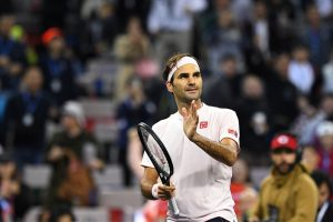 Roger Federer fires to join Novak Djokovic in Shanghai semis