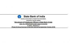 SBI PO Results 2018 declared at sbi.co.in | Check results via direct link here
