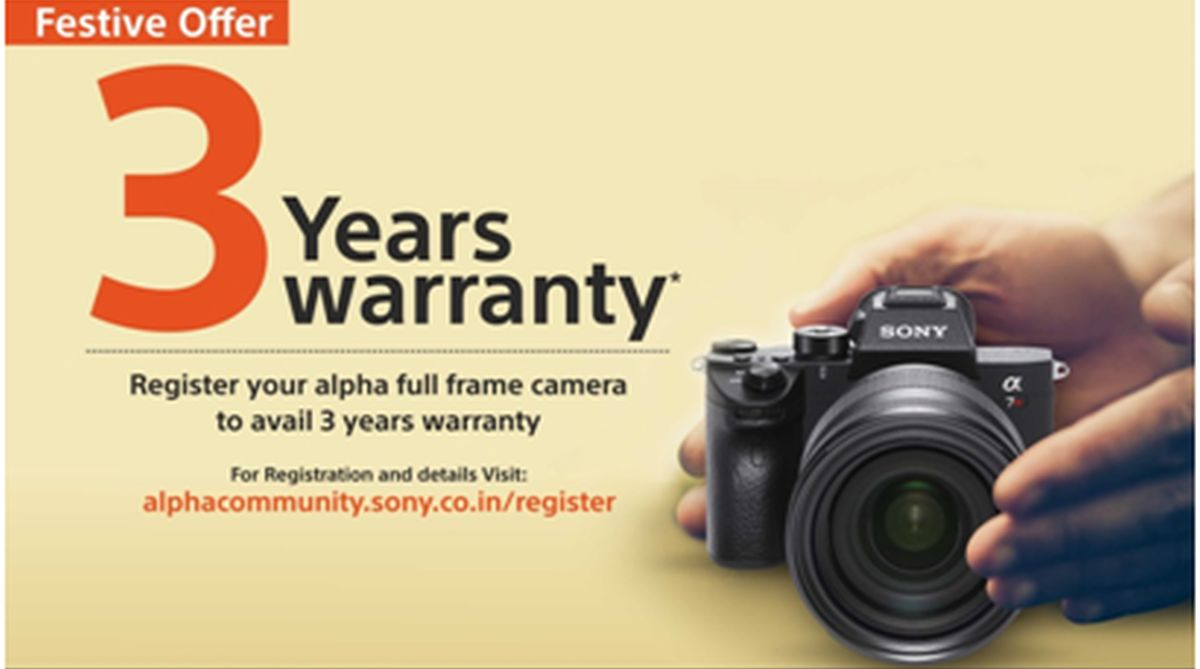 Sony India's festive offer: One year 'additional warranty' on Alpha Full Frame Cameras