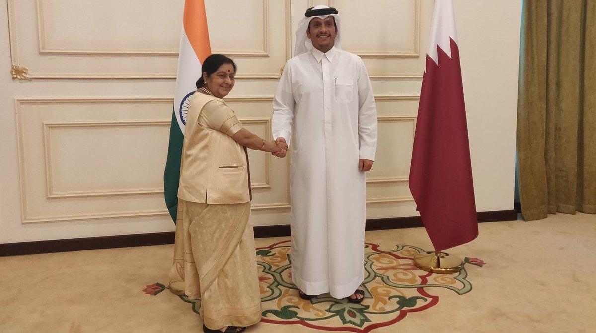Sushma Swaraj in Qatar
