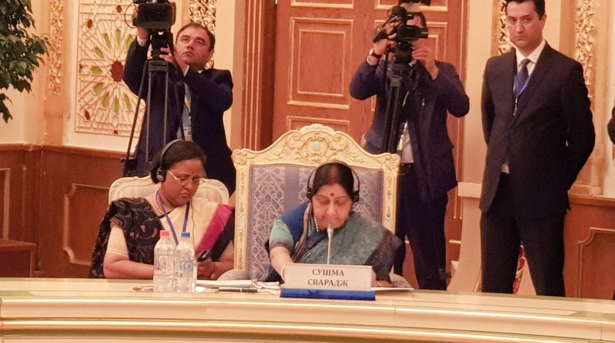 Sushma Swaraj, CPEC, Terror, SCO meet