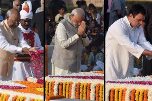 President Kovind, PM Modi, Rahul Gandhi pay tributes to Mahatma Gandhi at Rajghat