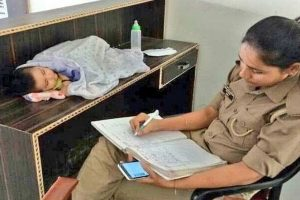 UP: Woman cop who took her 6-month-old child to work transferred to preferred district