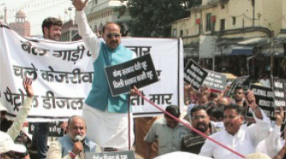 Vijay Goel, fuel prices, Kejriwal government, Red Fort