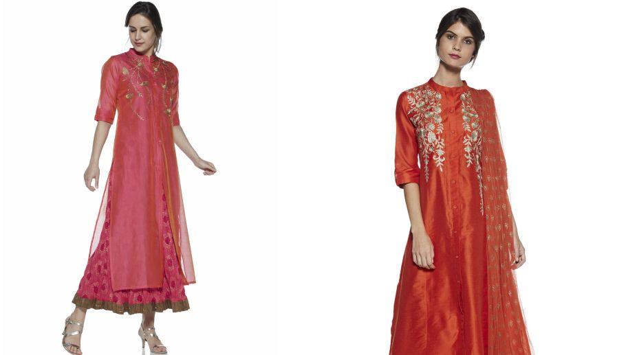 Westside Pink Ethnic Dress Set