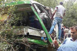 Assam: 7 dead, many injured as bus falls into pond