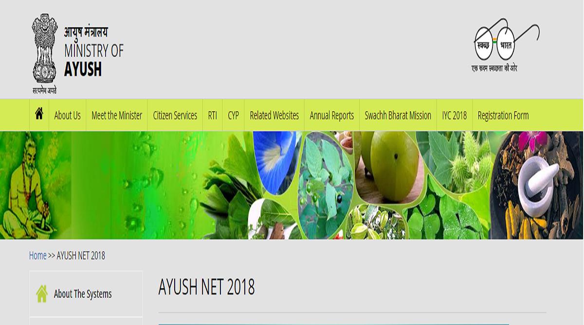 Ayush NET 2018