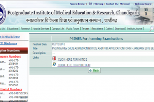 PGIMER Chandigarh releases the online application form for PhD/MSc courses | Apply now at pgimer.edu.in