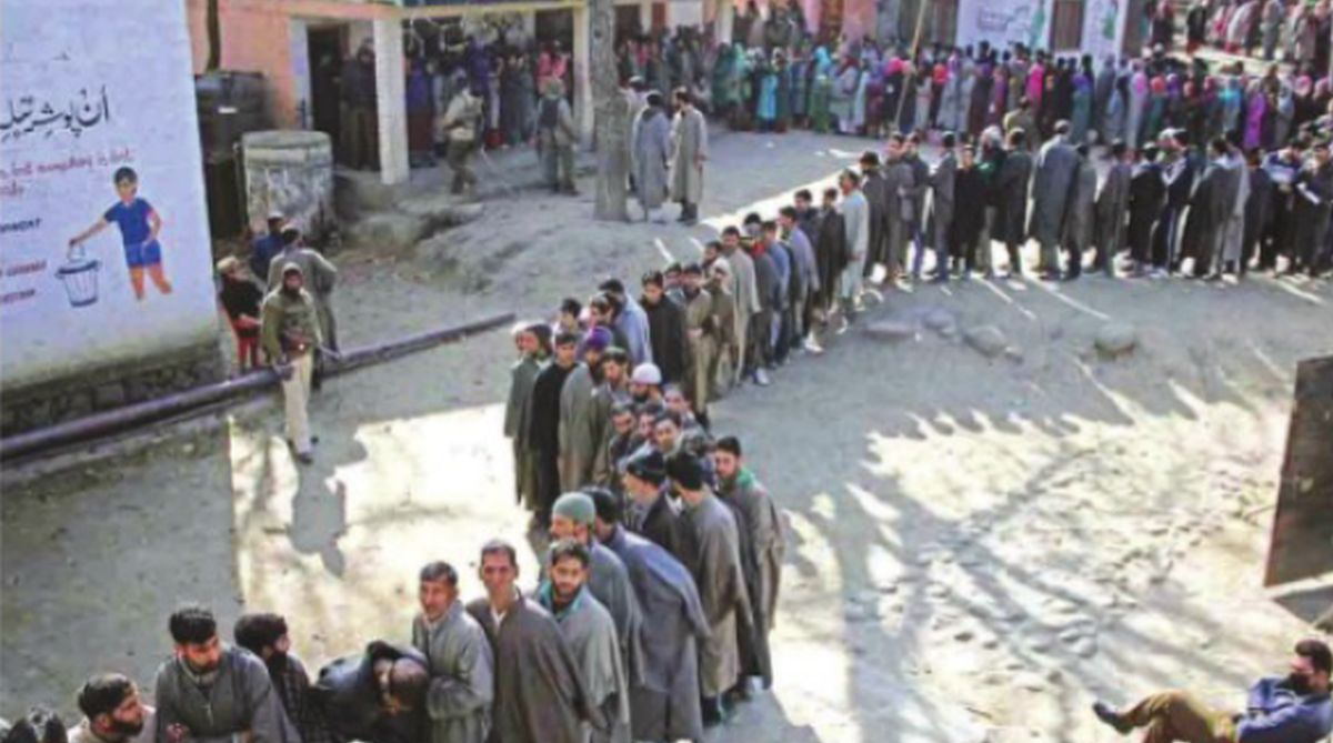 File photo elections in J&K.