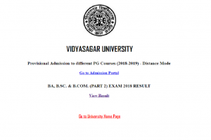 Vidyasagar University declares BA, B.Sc and B.Com results on official website | Check now at vidyasarar.ac.in
