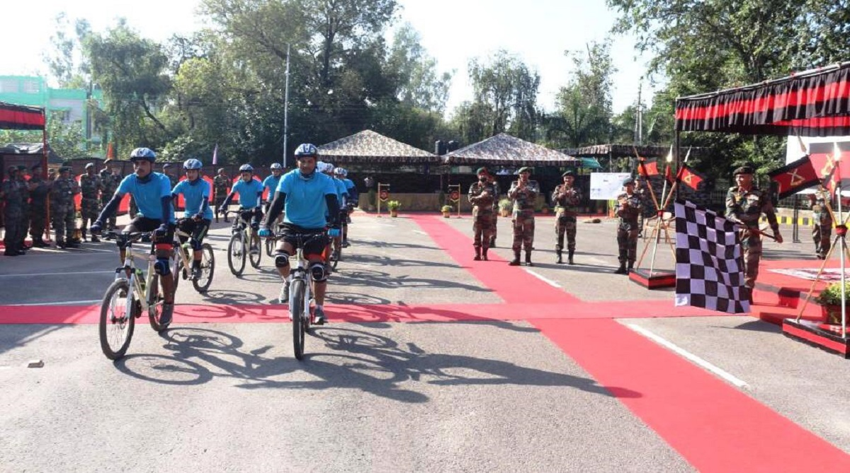 700 km cycling expedition of Jammu and Kashmir Light Infantry flagged off