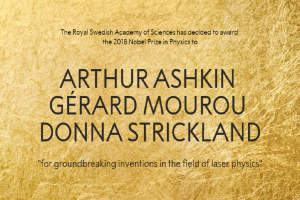 Nobel Physics Prize winners declared: Arthur Ashkin, Gerard Mourou and Donna Strickland awarded for Laser Physics work