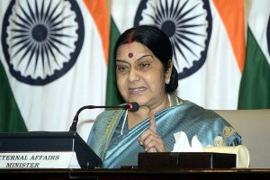 Welcome Kartarpur corridor, but not enough for talks: Sushma Swaraj asks Pak to stop terror