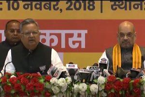 Chhattisgarh polls | BJP releases manifesto, lauds Raman Singh govt for curbing Naxalism
