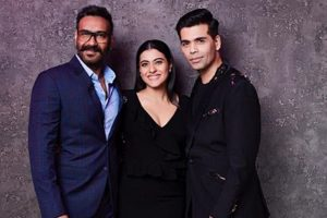 Ajay Devgn-Kajol on coffee date with Karan Johar