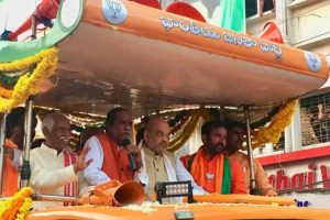 Telangana Elections 2018: Amit Shah holds road show in Hyderabad