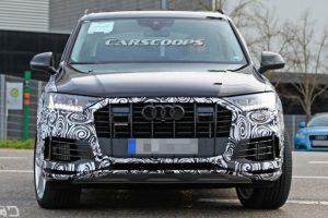 2020 Audi Q7 Facelift interior spied; reveals new dashboard design