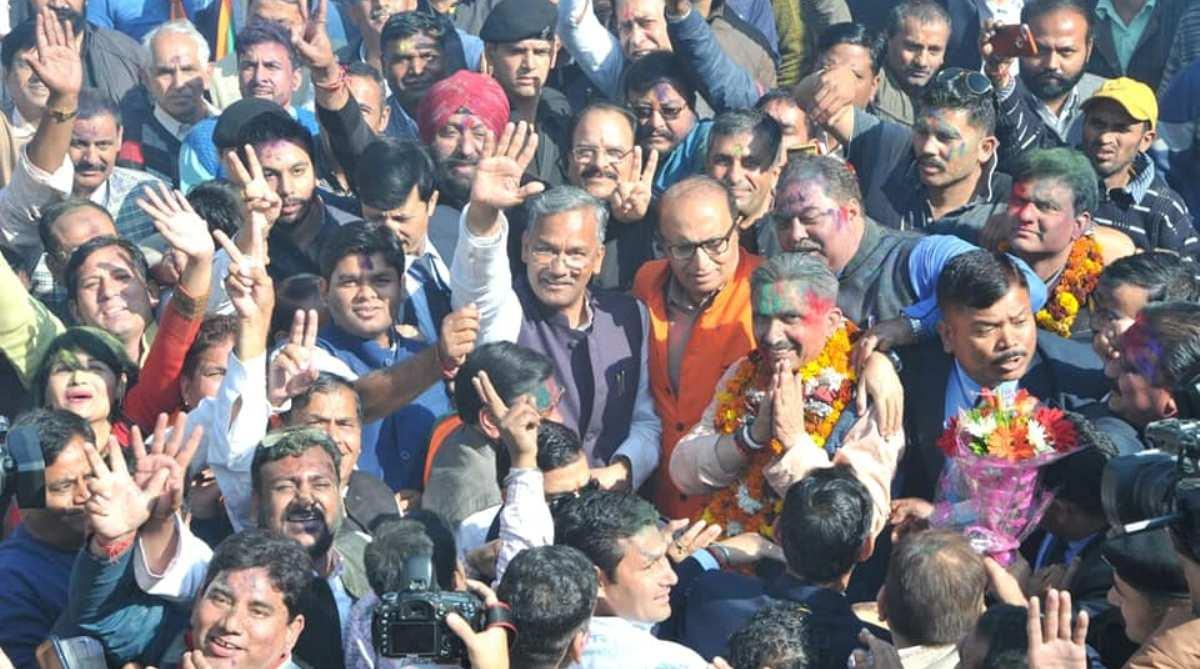 Verbal war, Rift, Trivendra Rawat, state BJP chief, Ajay Bhatt