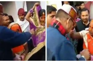 BJP leader Ganesh Joshi creates controversy by distributing money during Chhath festival