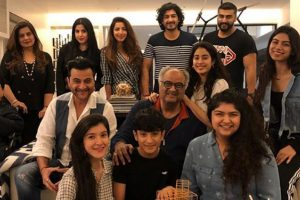 Boney Kapoor rings in 63rd birthday with family