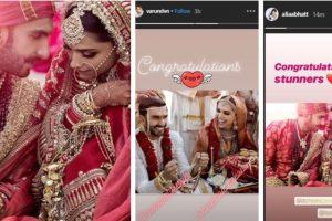 Deepika-Ranveer wedding: B-town celebrities wishes newlyweds 'Badhaai Ho'