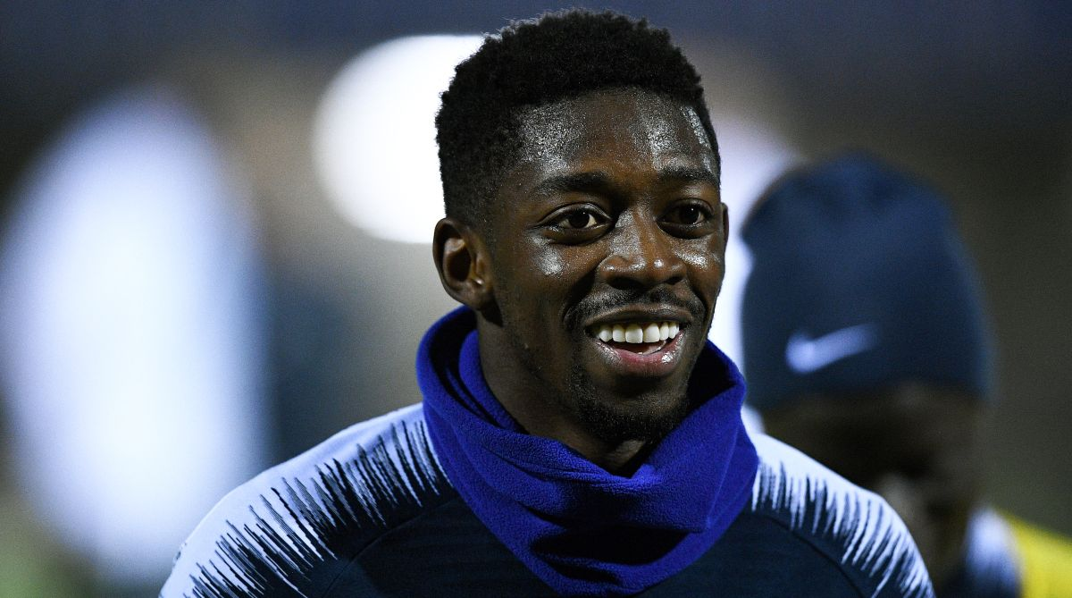 Barça's Dembele sidelined for 2 weeks due to injury