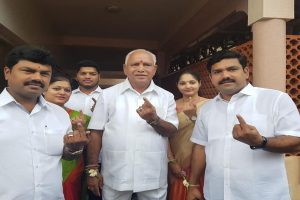 Karnataka bypolls | Voting underway; Yeddyurappa says son will win in Shivamogga