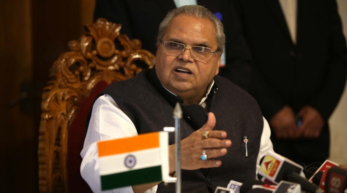Governor Malik, Sajad Lone, J-K CM, New Delhi