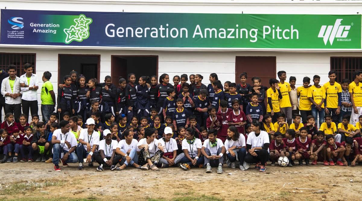 Generation Amazing, FIFA 2022, 2022 FIFA World Cup, Qatar 2022, Jamsher football pitch, YFC Rurka Kalan