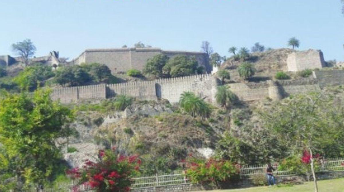 Kangra Fort, Trigarta Kingdom, Mahabharata, Maharaja Susharma Chandram,Ranjit Singh Gate, Ambika Devi Temple,Lakshmi Narayan Temple