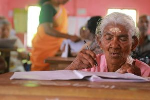 96 year-old woman scores high marks in Kerala literacy exam