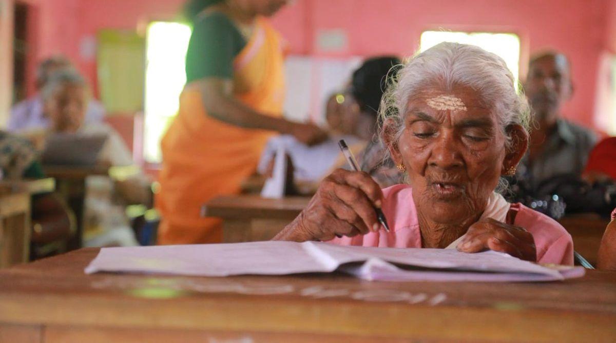 Kerala literacy exam, Karthyayani Amma, 96 year-old Kerala woman, Kerala State Literacy Mission Authority