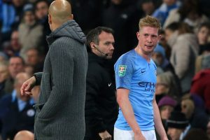 De Bruyne blow for City as star ruled out for up to six weeks
