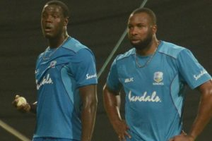 West Indies' Pollard, Brathwaite train hard at Eden ahead of 1st T20I