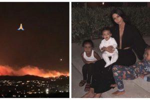 Kim Kardashian's mansion under wildfire threat
