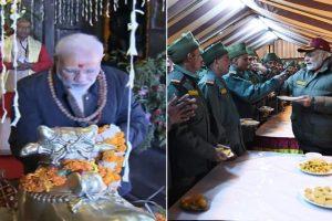 PM Modi prays at Kedarnath temple | Celebrates Diwali with ITBP, Indian Army jawans