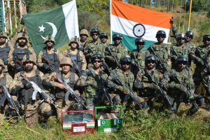 Indian Army exchanges sweets with Chinese, Pakistani troops on Diwali