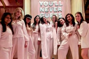 Pajama party time for bride Priyanka Chopra and her bridesmaids